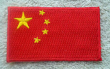 CHINA FLAG PATCH Embroidered Badge Iron or Sew on 3.8cm x 6cm 中华人民共和国 Chinese