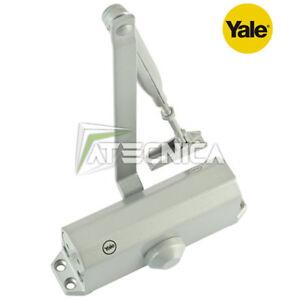 Ferme porte YALE série 3000-1-60-11 argenté ressort automatiq. fermeture porte