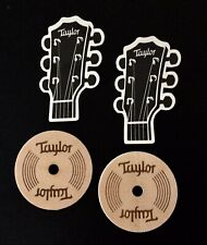 Taylor Guitar Sound Hole Coasters (2) soundhole Coasters and (2 Taylor Stickers