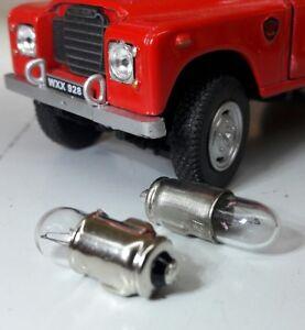 2W 12V Clear Filament Bulbs x2 Warning Lamps Smiths Gauges LLB281 GLB281 BA7s