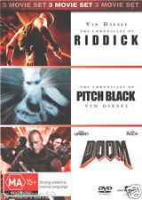 The Chronicles Of Riddick / Doom / Pitch Black : NEW DVD