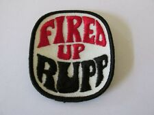 """Vintage Nos Rupp Snowmobiles """"Fired Up"""" Patch"""
