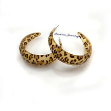 50mm Exaggerated Leopard Earrings Free Ship Big Size Acrylic Earrings 24 pairs