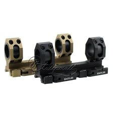 Tactical Quick Release Scope Ring Mount 25mm-30mm Dual Ring Auto Lock 20mm Rail