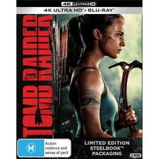 NEW Tomb Raider 4K Ultra HD Steelbook Action Alicia Vikander