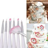 7PCS Cake Decorating Brush Fondant Pen Sugarcraft Painting Brush Baking Supply