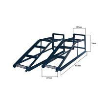 Pair of 2 Tonne Metal Ramp 2000kg Car Ramps Garage Vehicle Tools Blue Cougar CR2