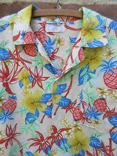 New listing Vintage handmade Hawaiian shirt cotton tiki Aloha floral bamboo L