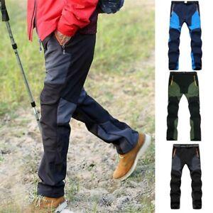 New Men Winter Thermal Trousers Tactical Waterproof Cargo Combat Warm Work Pants