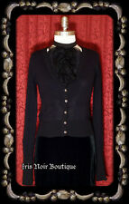'Goth Basic' Crystal Button Gothic Lolita Cosplay Cotton Cardigan Sweater M