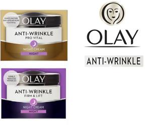 Olay Anti-Wrinkle Night Cream Pro Vital and Anti-Wrinkle Firm & Lift 50 ml - New