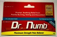 Dr Numb 5% Lidocaine Cream 30G Skin Numbing Tattoo, Waxing Piercing Exp 6/22
