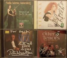 4x SIGNED Nadja Salerno-Sonnenberg, Julia Migenes, Peter Maxwell, Other 3 Tenors