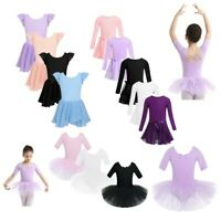 Kids Glitters Ballet Dance Dress Girls Gymnastics Leotards Tutu Skirts Dancwear