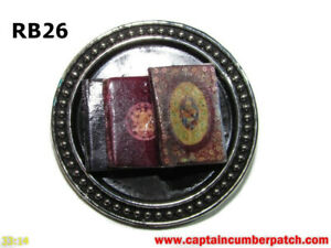 steampunk brooch badge pin paperback books writer author journalist editor #RB26