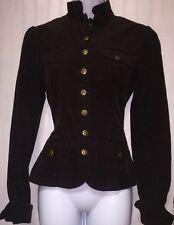Ralph Lauren Lauren Jeans Company Women's S Dark Brown Corduroy Riding Jacket