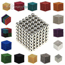 216pcs 3/5mm colorful neo imán Cube Magic beads Balls puzzle magnetic Toys DIY