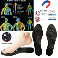 Breathable Silicone Magnetic Therapy Shoes Pad Magnet Insoles Shoe Inserts
