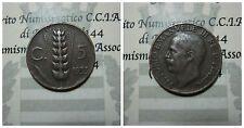 Vittorio Emanuele III 5 Centesimi Spiga 1933