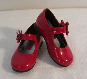 NEW Rachel Shoes Lil Pricila Toddler Girls Mary Jane Shoes 5 Red MSRP$24
