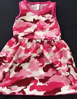 Girl Kid Baby Army Military Party Cotton Camouflage Pink Camo Summer Dress 2T