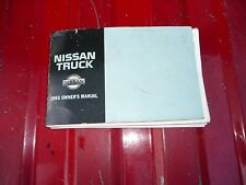 NISSAN TRUCK 93 OWNERS MANUAL Used
