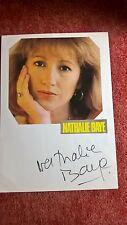 Original-Autografo di Nathalie Baye, con colori rivista immagine, totale. DIN a4