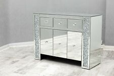 Crushed Diamond Large Sideboard Mirrored