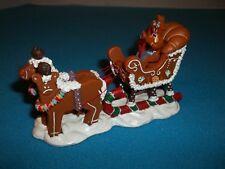 "Lemax Sugar 'N Spice ""Gingersleigh"" Gingerbread Village w/Orig. Box"