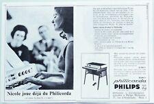 Publicité papier Orgue Philicorda Philips Mars 1966 P1012280 - 2 pages