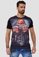 Herren Vintage T-Shirt Basic Shirt Round Neck Grafik Shirt Tshirt Basic Design