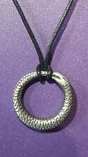 Ouroboros / Uroborus Zemi Pendant Necklace Serpent,Snake,Tail Rebirth   bin20c3