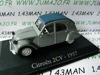 RBA19M voiture 1/43 RBA Italie IXO : CITROËN 2CV 1957