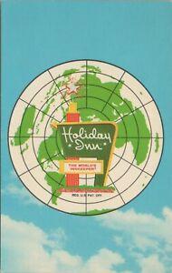 Holiday Inn Ashtabula Austinburg Ohio World Globe Vintage 1973 Postcard Unposted