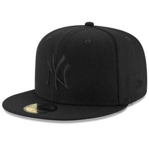 NEW ERA 59FIFTY 7 1/2 NEW YORK YANKEES CAP BLACK ON BLACK BRAND NEW.