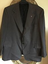 Vintage THE DIMENSION SHOP For Big & Tall Men Black Polyester Blazer