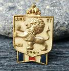 WWII British War Relief Lapel Pin Accessocraft Dieu Et Mon Droit Enamel Lion
