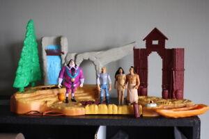 Disney Pocahontas Fields Of War Playset Mattel - Lot Figures Ratcliff Powhatan