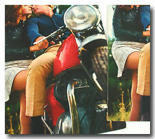 2 ORIGINAL VINTAGE POSTCARDS COUPLE ON 1967 BSA SPITFIRE MARK 3 MOTORCYCLE