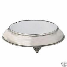 """SilverTapered Cake Stand Plateau Round 18"""" Top 22"""" Base"""