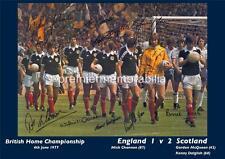 SCOTLAND 1977 KENNY DALGLISH GORDON McQUEEN SIGNED (PRINTED) x 11 REPRINT