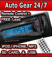 Car NON CD Stereo Head Unit iPod,iPhone,MP3 Player,USB,SD Card,3.5mm AUX,Radio
