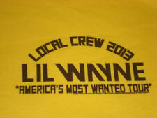 Lil Wayne America's Most Wanted Tour 2013 Local Crew T-shirt Size XL
