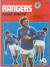 Programma / Programme Glasgow Rangers v Forfar Athletic 30-8-1978 League Cup 2nd