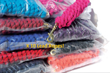Twin / Plain Coloured 2m Leadrope/Lead Rope - Pack of 10 - New - Job lot offer!