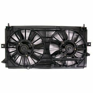 Air Conditioning A/C Condenser Dual Cooling Fan Assembly for 97-05 Park Avenue