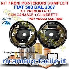 KIT FRENO A TAMBURO POSTERIORE COMPLETI FIAT 500 DAL 2007 FC180119 GANASCE