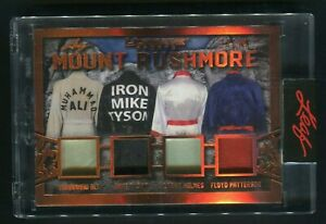 2021 Leaf Ultimate Ali Tyson Holmes Patterson Mount Rushmore Relic /30 Boxing