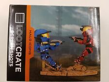 Halo Icons Red vs Blue Screen Shots Legendary Loot Crate Spartan Warzone Figure