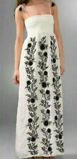 Juicy Couture Maxi Hippie Silk Dress Black Embroidery - Size Medium